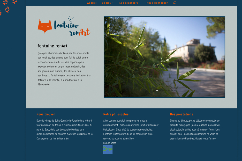 Fontaine renart site accueil
